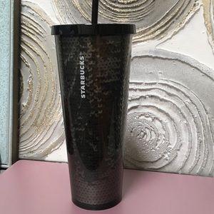 Starbucks Black Sequin 24 oz Tumbler New